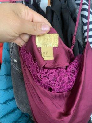 H&M Conscious Collection Haut en soie violet
