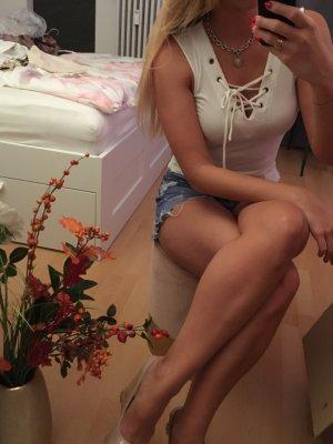 Only Camisa acanalada blanco