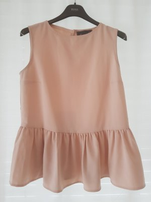 Top peplum rosa