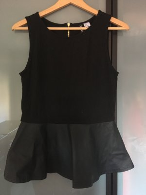 H&M Divided Empire Waist Top black