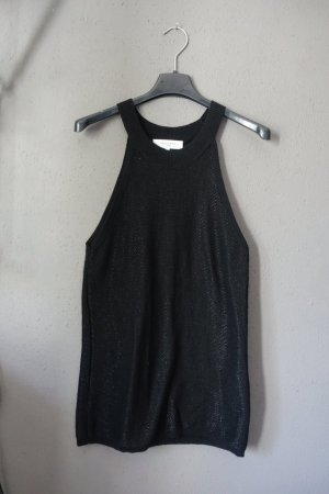 Top, schwarz, Glitzer, Shirt, Oberteil, Selected Femme