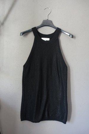 Selected Femme Top de ganchillo negro tejido mezclado