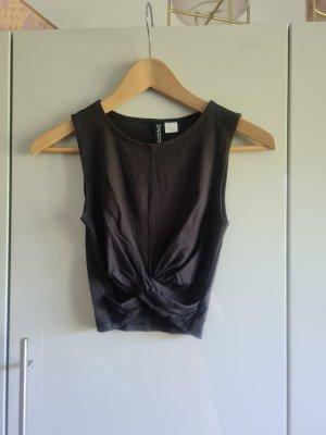 H&M Watervaltop zwart