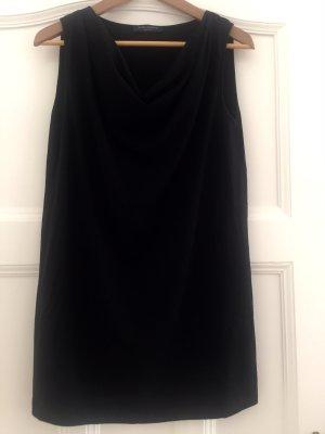Piazza Sempione Cowl-Neck Top black cotton