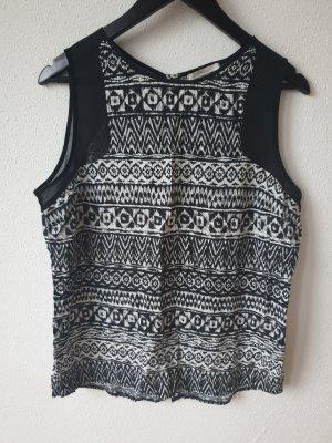 Pieces Camisa de mujer blanco-negro