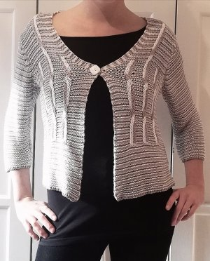 Top Secret Knitted Bolero light grey-grey