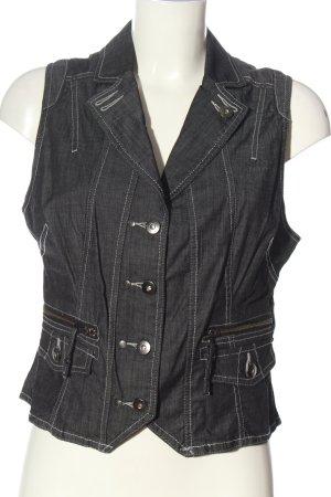 Top Secret Gilet en jean gris clair style décontracté