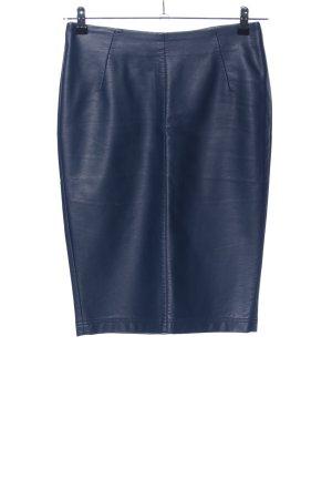 Top Secret Kunstlederrock blau Casual-Look