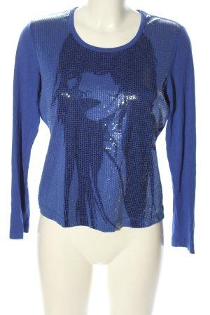 Top Secret Print-Shirt blau Motivdruck Casual-Look