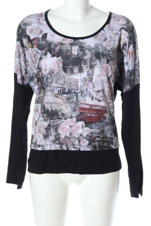 Top Secret Print-Shirt schwarz-weiß Motivdruck Casual-Look