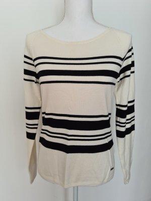 Top Secret Pullover Oberteil Gr. 36 schwarz weiß gestreift