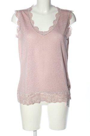 Top Secret Top di merletto rosa puntinato stile casual