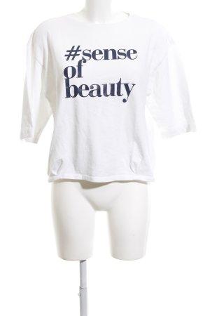 Top Secret Sweatshirt weiß Schriftzug gedruckt Casual-Look