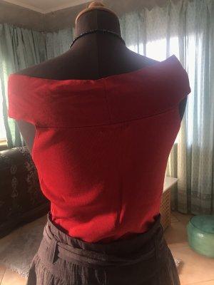 Stottrop Silk Top neon red