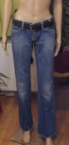 Top seltene vintage Hüft-JEANS von AMISU..washed, bootcut..Größe W27, DE 34/36