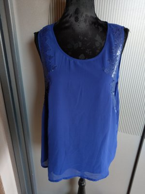 Top Shirt blau Pailletten Only