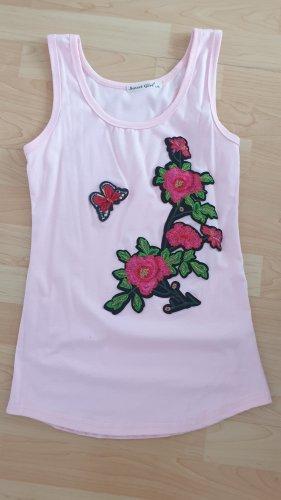 Top Shirt Blumen Gr 38