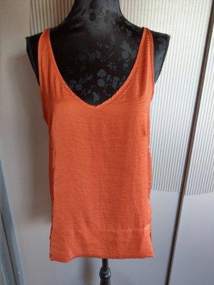Top Shirt Bluse orange H&M