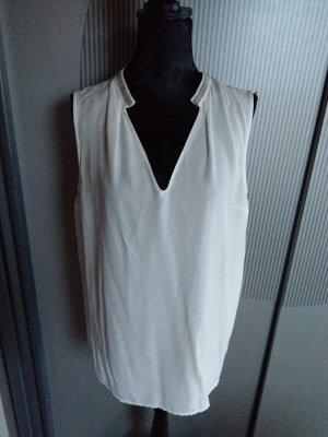 Top Shirt Bluse weiß Orsay