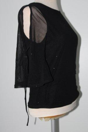 Top Shirt Blusentop New Look Gr. 12 schwarz
