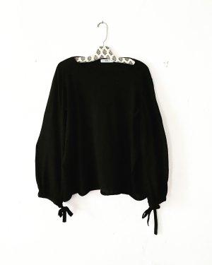 top • shirt • longsleeve • schwarz • zara