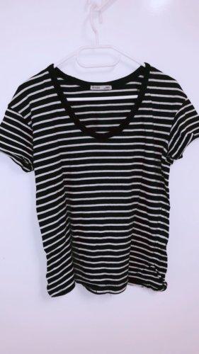 Top Shirt oberteil tshirt schwarz weiß basic zara