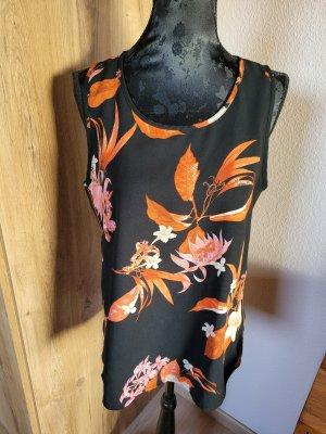 Vero Moda Basic topje zwart-oranje