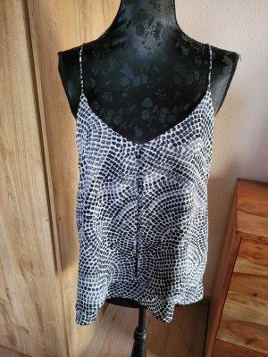 H&M Basic topje wit-zwart