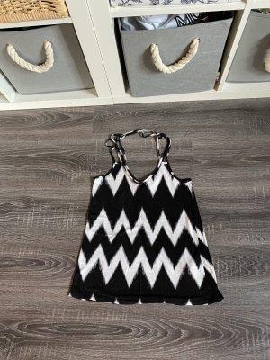 H&M Blouse topje zwart-wit