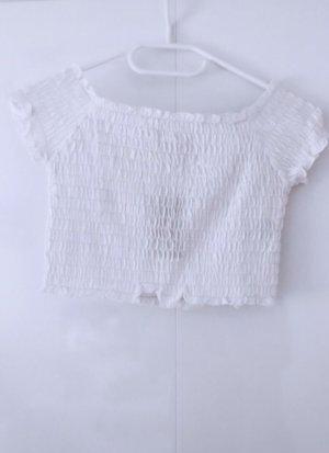 Top shirt tshirt oberteil tank crop weiß