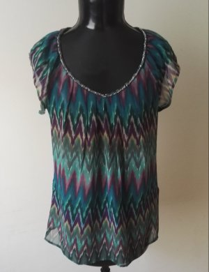 Top taille empire multicolore