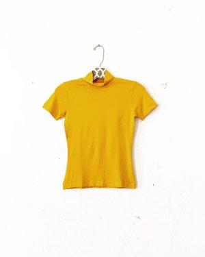 top • shirt • vintage • dottergelb