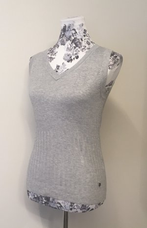 Zero Gebreide top grijs-zilver