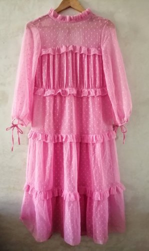 Topshop Jurk met lange mouwen roze
