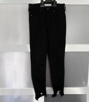 Topshop Vaquero skinny negro-color plata