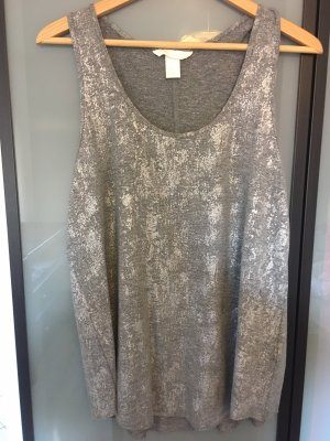 H&M Conscious Collection A-lijn top grijs-zilver Polyester