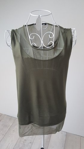 Sisley Camicia verde oliva
