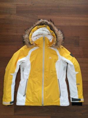 J.lindeberg Giacca sport giallo-bianco Poliammide