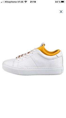 TOP Sneaker SHABBIES AMSTERDAM Gr. 38 weiß gelb Schuhe Leder
