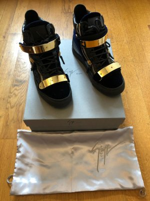 Giuseppe Zanotti High Top Sneaker black-gold-colored