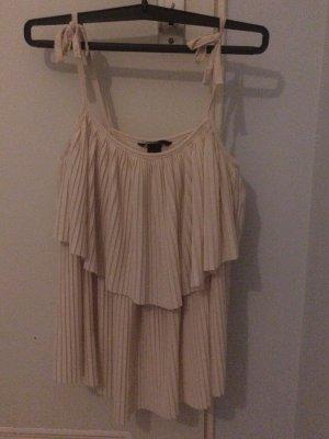 H&M Top z cienkimi ramiączkami w kolorze białej wełny
