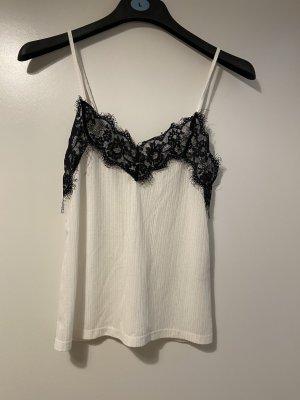 Zara Top con bretelline bianco-nero