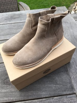TOP Stiefellette SHABBIES AMSTERDAM Gr. 38 Taupe Boots