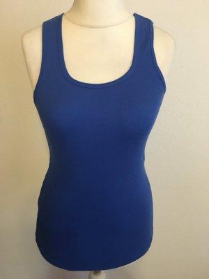 BELLA Top basic blu Cotone
