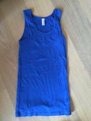 Top Tanktop Basic stretchig blau 100% Baumwolle Gr. M NEU
