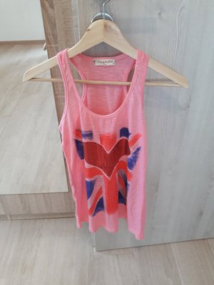 Top Tanktop Shirt Longshirt rosa pink
