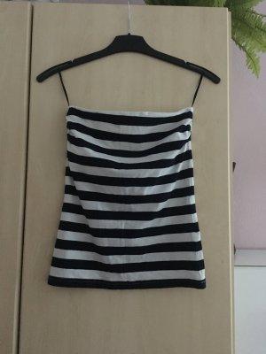H&M Basic topje wit-zwart Katoen