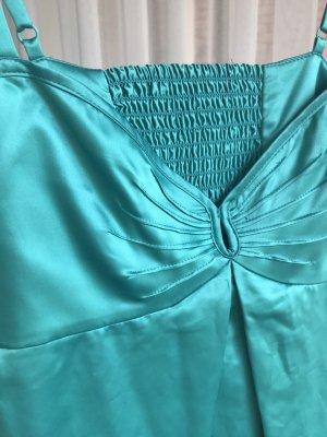 Top Trägertop Satin Glamourös Elegant Smaragdgrün
