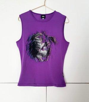 Versace Jeans Couture Top linea A nero-lilla Poliestere