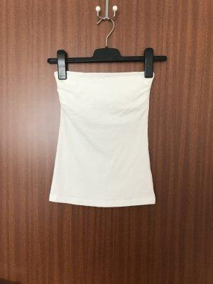 H&M Top a fascia bianco Cotone